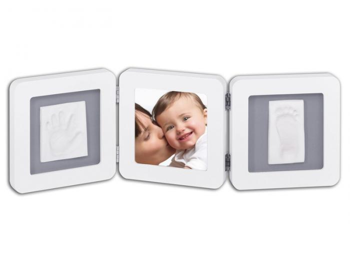 BABY ART Rámeček Double Print Frame White & Grey